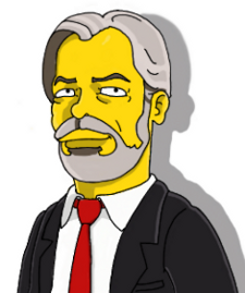 Simpsonized Image of Roderick T. Long