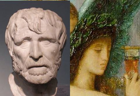 The two most famous images of Hesiod. The one on the left suits the tone of his poems better.