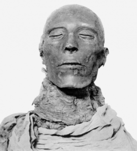 The mummy of Pharaoh Seti I, described by Rohmer as his conception of what Fu Manchu should look like